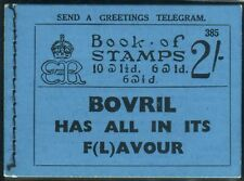 Sg BC2 2/- Booklet Edition 385.  A very fine example