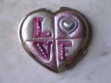 "Brighton ""Love Compact"" Lots of Colors Leather Design New w Tags.Retired!"