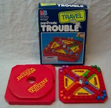 Milton Bradley Popomatic Trouble Travel Games Game In Box