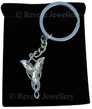 Arwen Evenstar Necklace KEYCHAIN KEY RING Hobbit LOTR Lord of the Rings Gift Bag