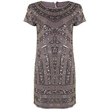 NEW Rise Naomi Embellished Dress Silver RRP £80 Ladies UK Size 10 Box11 08 a
