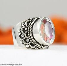 RAINBOW MYSTIC OPAL & 925 Sterling Silver RING Size ~8