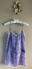 Sheer Hummingbird Cami Tank Top Lilac Large by Coco La Rue Floral Blouse
