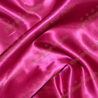 45 Feet Satin Fabric 58 inches width sold by the yard Wedding, Gown Fuchsia Pink