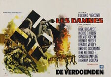 DAMNED Belgian movie poster LUCHINO VISCONTI HELMUT BERGER THULIN RAY ELSEVIERS