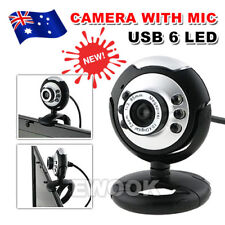 USB 6 LED Camera Web Cam with Mic Night Vision for Desktop/PC/Laptop Skype
