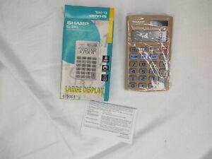 Vintage Sharp® EL-240L Handheld  Calculator, New Original Box. LARGE DISPLAY