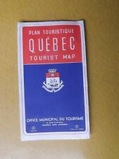QUEBEC TOURIST MAP TRAVEL INFORMATION SIGHT SEEING MOTOR COACH BUS TOURS