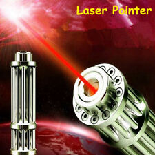 Military 1W 532nm Red Laser Pointer Pen Powerful Beam Light Zoom Focus 16340