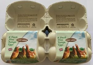 100 X 1/2 DOZEN QUALITY PRINTED EGG BOXES FOR VERY LARGE CHICKEN /DUCK EGGS