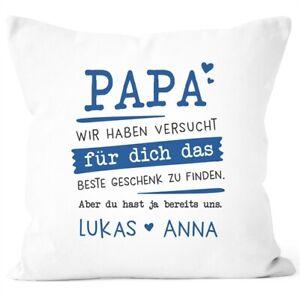 Kissen-Bezug personalisiertes Geschenk Spruch Papa/Mama wir habe versucht für