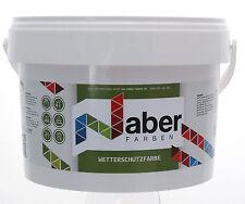 (10,50 €/L) 5 Liter - Wetterschutzfarbe - FENSTERGRAU RAL 7040 -