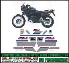kit adesivi stickers compatibili xtz 750 super tenere 1990 black