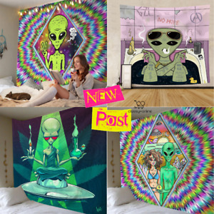 Psychedelic Hippie Trippy ALIEN Tapestry Home Art Decor New Wall Hanging Throw