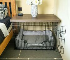Dog Crate Cover Grey | Wooden Dog Crate Table Top | Wooftop | 42,36,30,24