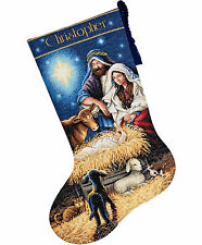 Cross Stitch Kit Gold Collection Christmas Nativity Holy Night Stocking 70-08838