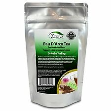 Pau D'Arco Tea 100% Pure (30 Premium Bags) All-Natural Immune System Support