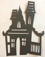 HALLOWEEN Haunted House Die Cut Handmade Card Stock, Paper Piecing