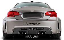 MOTORSPORT Racing Vinyl Decal Sticker sport car bumper logo auto emblem