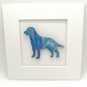 Painting of Labrador retriever gun dog 3D mounted unique unusual picture gift