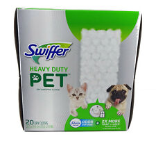 Swiffer Heavy Duty Pet Dry Sweeping Cloth Pad Refills, Febreze (20 Count)