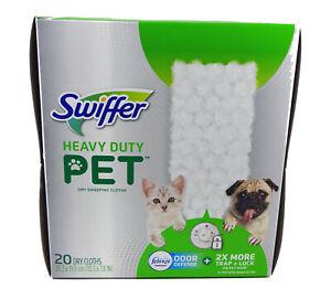 Swiffer Heavy Duty Pet Dry Sweeping Cloth Pad Refills, Febreze (20 Count)