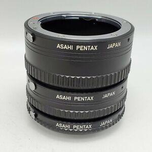 Asahi Pentax Auto Extension Tube Set 1 2 & 3 for K Mount SLR Cameras Lenses
