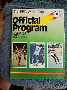 ESPANA 1982 FIFA WORLD CUP OFFICIAL SOCCER PROGRAM  EX/MT          GROBEE1957