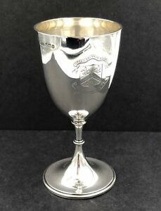 Sterling silver goblet ' Hitchin Grammar School' Sheffield 1907