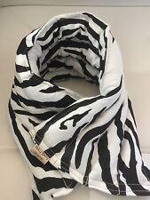 rice flax heat pad hot or cold shoulder neck wrap BLACK WHITE ZEBRA