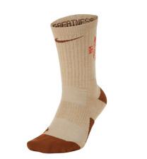 Nike Lebron Elite Basketball Crew Socks King James LBJ Hoops Brown/Tan - Large