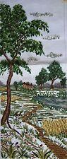 "EP 2785/2 Summer Castle Landscape Vintage Preworked Needlepoint Canvas 12""x30"""