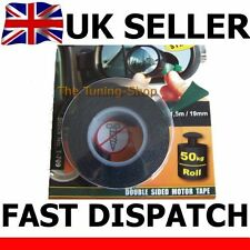 Automotive Double Sided Adhesive Tape 1.5 m 19 mm Black - Car Sign Emblem Plate