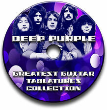 104x DEEP PURPLE ROCK GUITAR TAB TABLATURE SONG BOOK ANTHOLOGY SOFTWARE CD