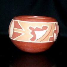 "SAN JUAN PUEBLO Pottery Rosita Cata Bowl Native American Signed Handmade 6 1/2"""