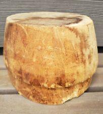 Pillbox Balsa Hat Making Mold Block Form Antique Vtg Old Millinery Wood Display