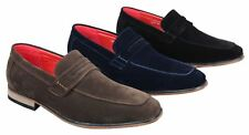 Mens Suede Faux Slip On Formal Smart Casual Shoes Italian Design Classic Loafers