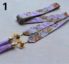 Ladies Japanese Obi Waist Belt Tassel Bell Yukata Sash Custome Ribbon Waistband