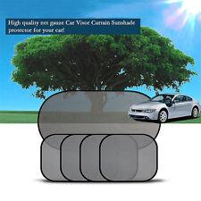 5Pcs Side Rear Window Screen Mesh Sunshade Sun Shade Cover For Car UV Protect W