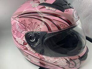 BILT ECE/22-05 DOT Motorcycle Full Helmet  Pink   Size XS