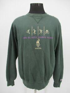 P8335 VTG Champion Reverse Weave 1996 Olympic Summer Games Sweatshirt Size XL