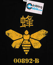Breaking Bad Heisenberg T Shirt Methylamine Barrel Bee Moth Black Small to XXL