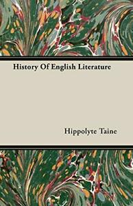 History Of English Literature, Taine, Hippolyte 9781408604212 Free Shipping,,