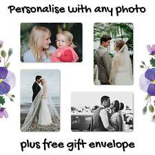 Personalised Wedding Anniversary METAL Wallet Photo Gift Card Husband Dad Wife