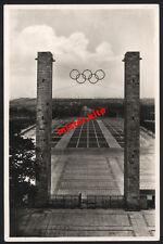 Ufficiale Berlino di cartolina olimpico 1936-ricco sport campo porta est