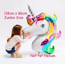 Unicorn Rainbow Jumbo Foil Balloon Horse Pony Decoration (not for Helium)