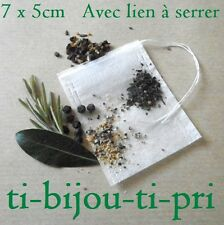 LOT de 20 SACHETS vides INFUSION THE TISANE HERBES EPICES CUISINE BOUQUET 7x5cm