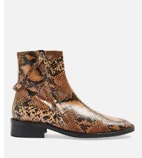 Topshop Aubrey Boots Snake 38 Size 5