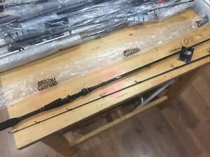 "Abu Garcia Villian Spinning/lure Rod 6ft 6"" Med/hvy 8-14lb 1-4-4/4 Oz Lure New"