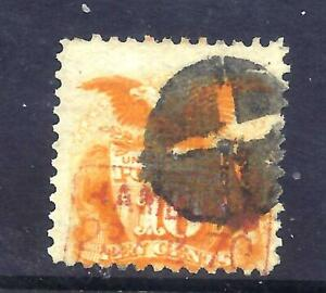 US Stamps - #116  - USED - 10 cent 1869 Pictorial Issue  - CV $150 - red cancel